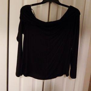 Off shoulder black shirt